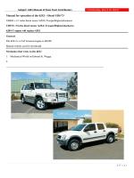Jackaroo 4JX1 Engine - Manual 2014