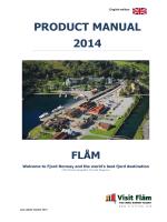 PRODUCT MANUAL 2014 - Flåm