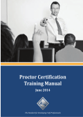 Proctor Certification Training Manual - NCCER