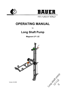 OPERATING MANUAL - Bauer