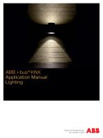 ABB i-bus® KNX Application Manual Lighting