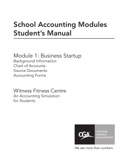 School Accounting Modules Students Manual - North Park