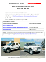 Jackaroo 4JX1 Engine – Manual May 2014 ver 4.0[5.8MB]