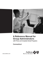 A Reference Manual for Group Administrators - Anthem