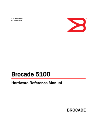 Brocade 5100 Hardware Reference Manual, March 2014