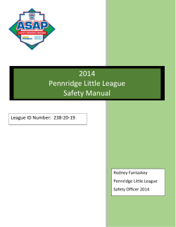 2014 Pennridge Little League Safety Manual