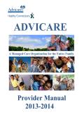 Advicare MCO Provider Manual - Advicare Health