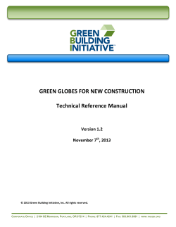 Green Globes for New Construction Technical Reference Manual