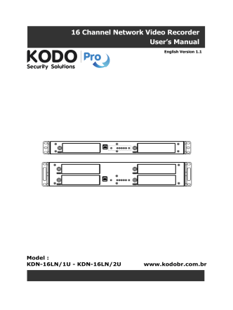 16 Channel Network Video Recorder Users Manual - Kodo