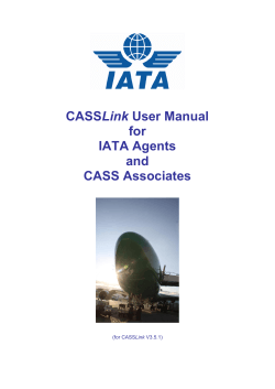 CASSLink User Manual - IATA