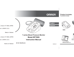 Model BP760N Instruction Manual - Omron Healthcare