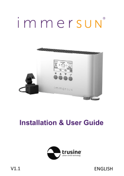 Instruction Manual v1.1_INTERNAL - immerSUN