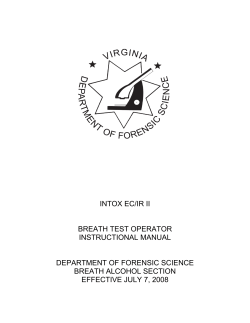 intox ec/ir ii breath test operator instructional manual - Virginia