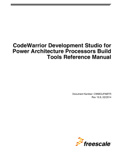 CodeWarrior Development Studio for Power Architecture Processors