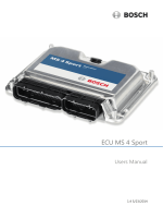 ECU MS 4 Sport Manual - Bosch Motorsport