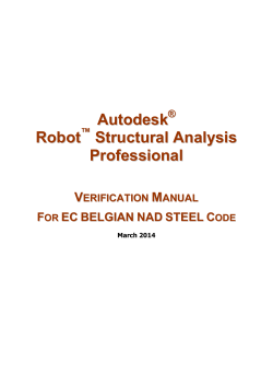 Robot Structural Analysis Verification Manual - Autodesk