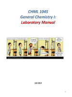 CHML 1045 General Chemistry I: Laboratory Manual
