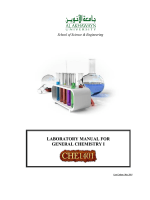LABORATORY MANUAL FOR GENERAL CHEMISTRY I