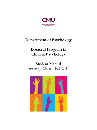 2014-2015 Clinical Student Manual - Central Michigan University