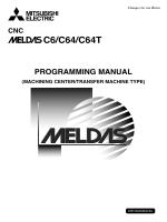 MELDAS C6/C64/C64T PROGRAMMING MANUAL (MACHINING