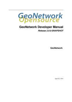 GeoNetwork Developer Manual - Nationaal Georegister