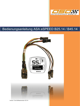 Bedienungsanleitung ASA Multi xC / Instruction Manual ASA Multi xC