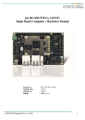phyBOARD-Wega AM335x Hardware Manual - Phytec