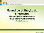 Manual de Utilização do SIPEAGRO - Ministério da Agricultura
