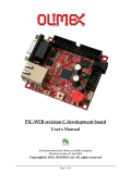 PIC-WEB revision C development board Users Manual - Farnell
