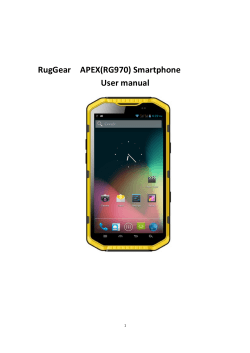 RugGear APEX(RG970) Smartphone User manual