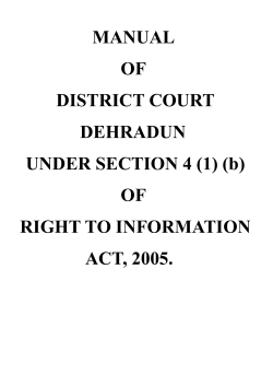 MANUAL OF DISTRICT COURT DEHRADUN UNDER - e-Court