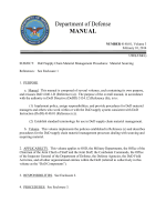 DoD Manual 4140.01, Volume 3, February 10, 2014 - Defense