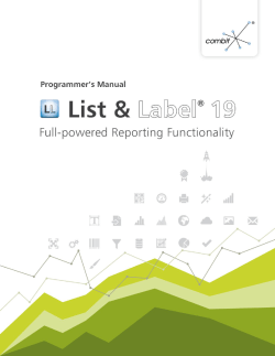 combit List  Label - Programmer´s Manual - Combit GmbH