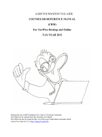Counselor Reference Manual - Tax-Aide for CA2