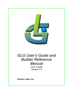GLG Users Guide and Builder Reference Manual - Generic Logic, Inc.