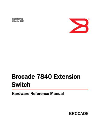 Brocade 7840 Extension Switch Hardware Reference Manual