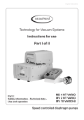 Vacuum Diaphragm Pumps MD 4 NT VARIO,... - Manual - Vacuubrand