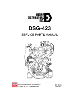 DSG-423 SERVICE PARTS MANUAL - WITHOUT ENG NUMBERS