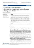 Dynamics of a nonautonomous Lotka-Volterra predator-prey