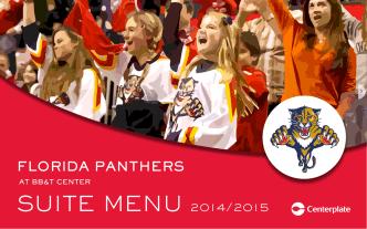 2014-15 Full Suite Menu - Florida Panthers