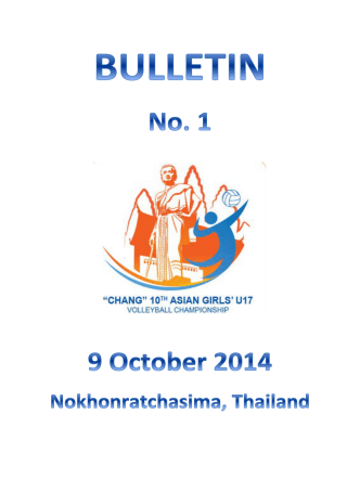 Bulletin#1 - Asian Volleyball Confederation