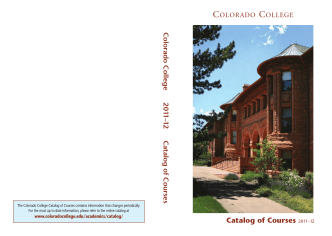 Catalog of Courses - Colorado College