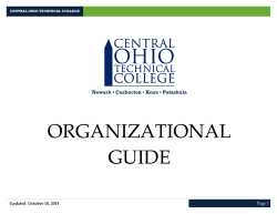 COTC organizational guide - Central Ohio Technical College