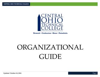 COTC organizational guide - Central Ohio Technical College