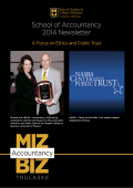 School of Accountancy 2014 Newsletter - College of Business