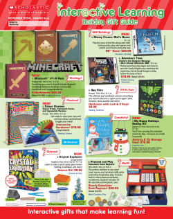 Interactive Learning Holiday Gift Guide Student Flyer - Scholastic
