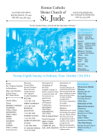 Bulletin - St Jude Home Page