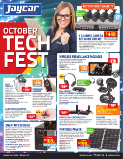 OCTOBER - Jaycar Electronics