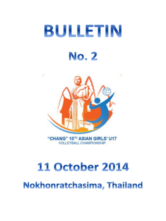 Bulletin#2 - Asian Volleyball Confederation
