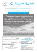 This Weeks Bulletin - St. Joseph Parish
